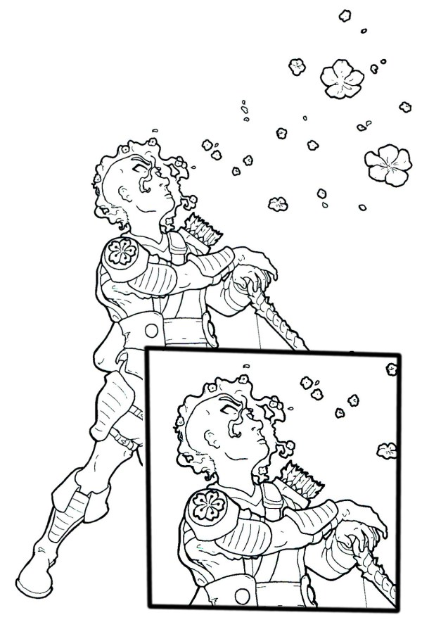 spring avatar coloring page