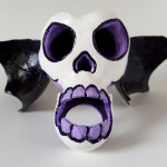 Winged Sugar Skull Sculpture by Nathan Thomas, @ Root Inspirations.