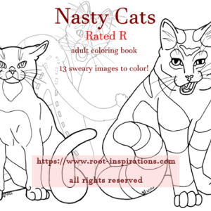 Cats Adult Coloring Book RATED R For Nasty Language