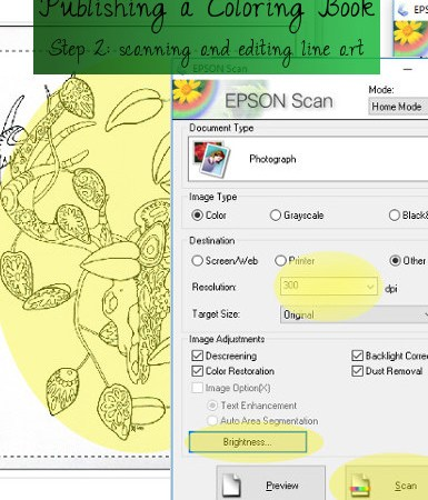 how to scan line art
