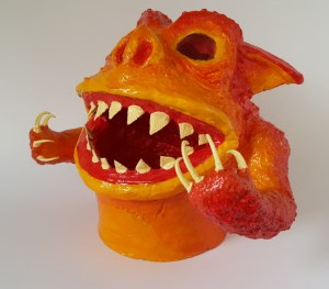 Flame Demon Gourd Sculpture