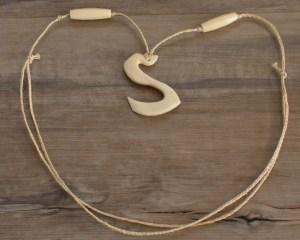 bear jaw bone hook necklace
