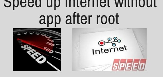Speed up Internet without app after root