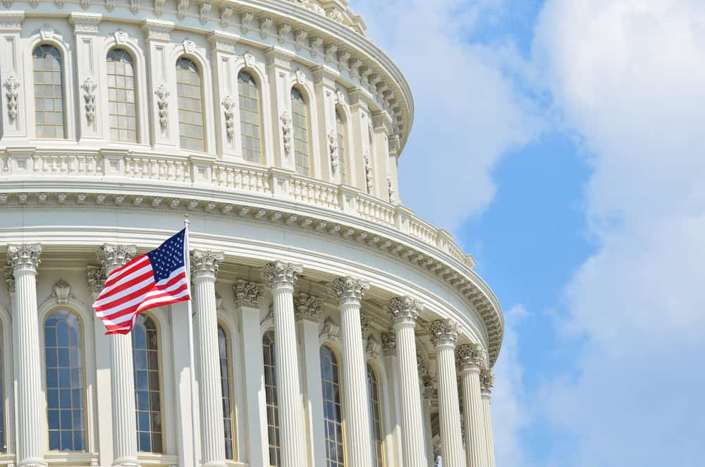 US Capitol building with US Flag
