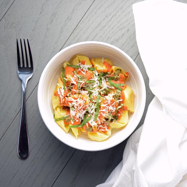 Sun-Dried Tomato and Pesto Pasta