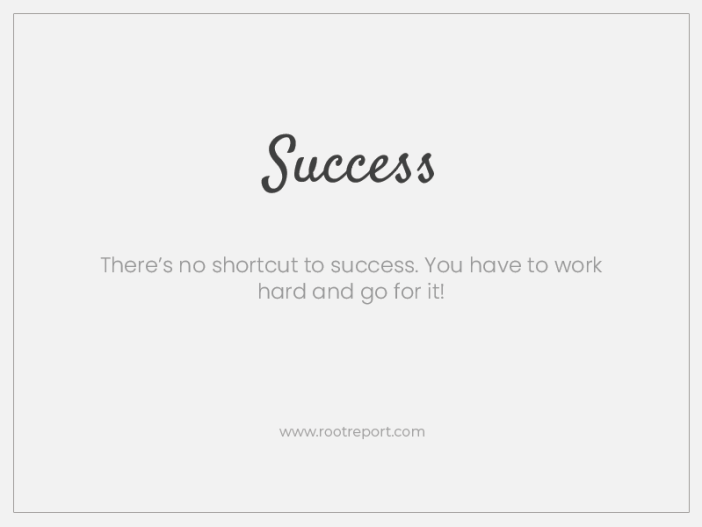 success one word quote