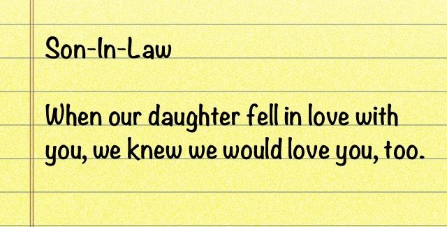 son in law quotes