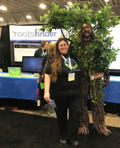 Robert the RootsFinder Tree at RootsTech 2017