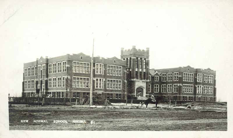 Regina Normal School 1914 Postcard 12856 Lovell & Co. New Normal School Regina (cca. 1911)
