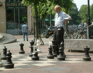 Big-as-life chess game