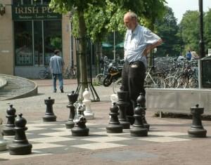 Big-as-life chess game