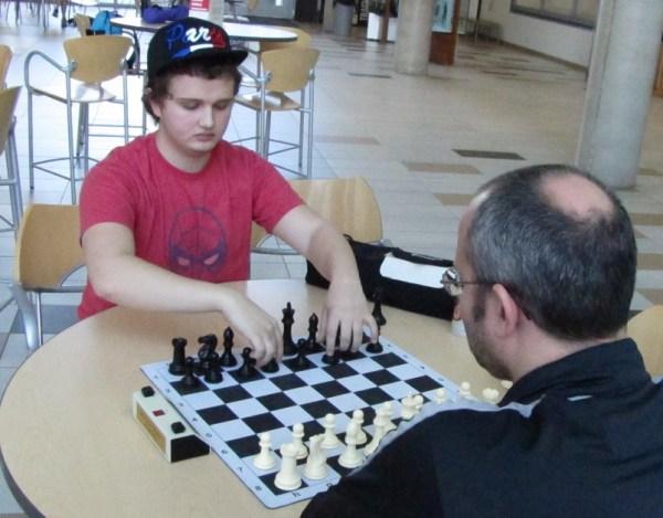 Grandmaster Kayden Troff after the tournament