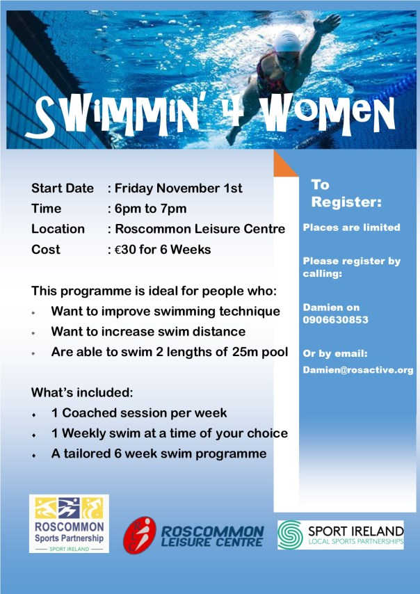 Swimming For Women Course Poster