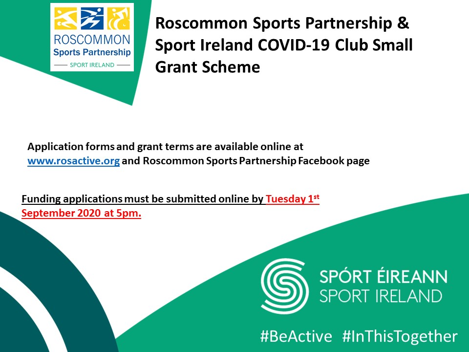 Roscommon Sports Partnership COVID 19 Club Small Grant Scheme Guidelines