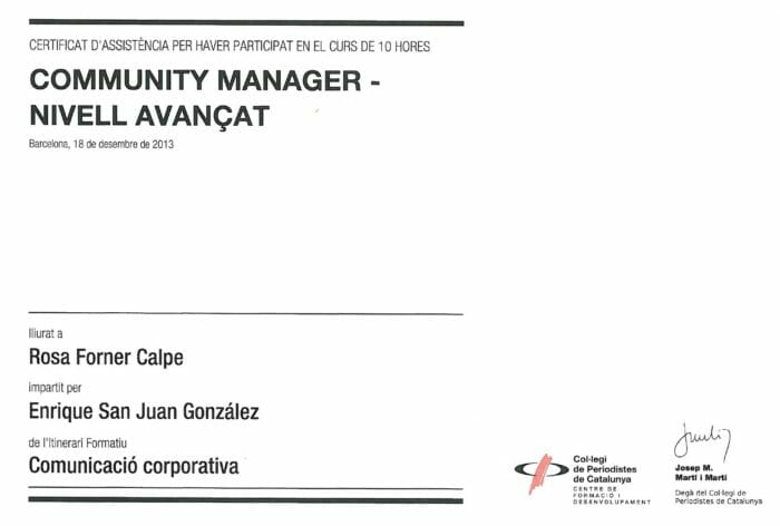 Curso de Nivel avanzado de Community Manager-
