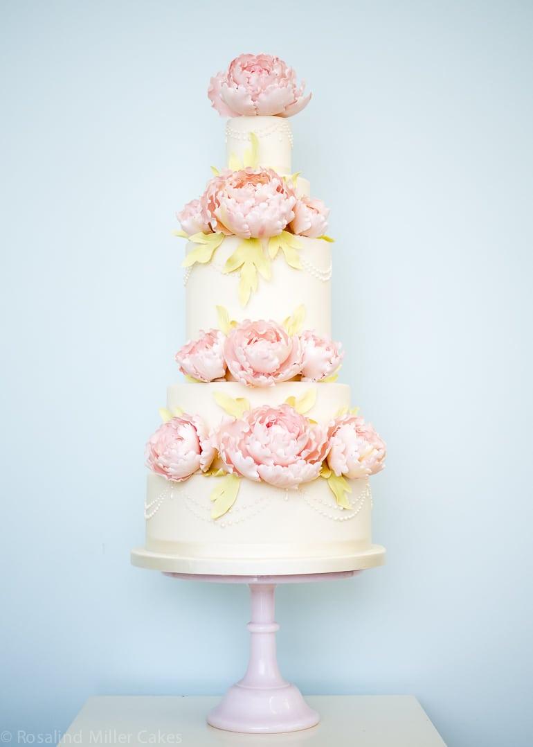 Pink Peonies Rosalind Miller Cakes