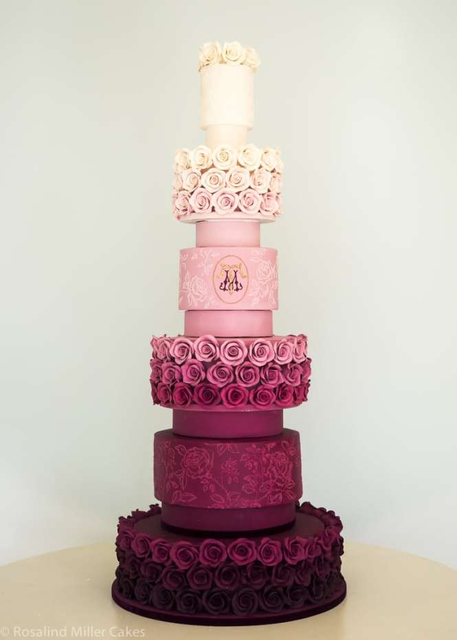 Rose Ombre Wedding Cake By Rosalind Miller Cakes London
