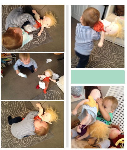 Puppen Windel Stoffpuppe reinigen