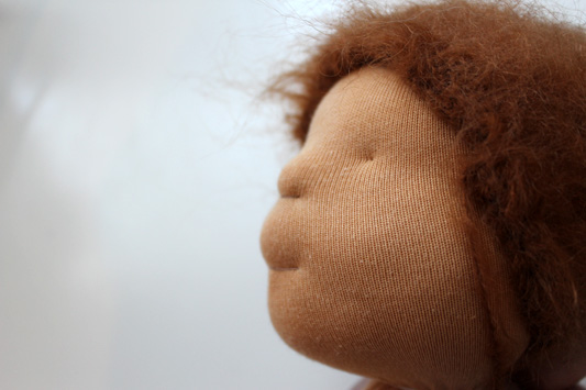 needle felted doll head