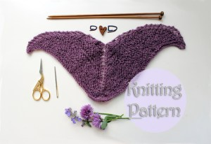 knitting pattern doll shawl Strickanleitung Puppe