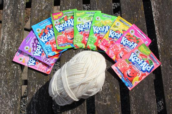 Kool Aid Wolle färben