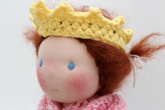 Häkel Krone für Waldorf Puppen