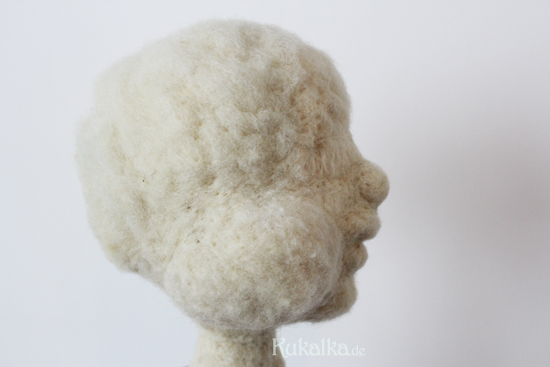 Filzkopf needle felted doll face
