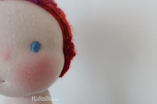 Puppenkopf Gesicht Augen