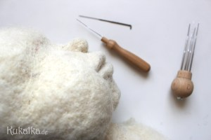 Puppenkopf gefilzt