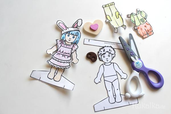 Papier Puppen