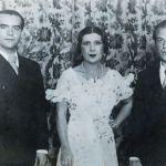Federico García Lorca (izquierda) y La Argentinita (centro), intérpretes de Anda Jaleo, junto al también poeta Rafael Alberti (derecha).