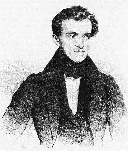 Retrato de Johann Strauss I (1804 - 1849), autor de la Marcha Radetzky.