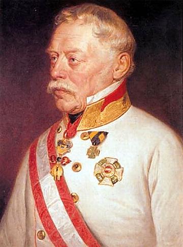 Retrato de Johann Joseph Wenzel Graf Radetzky von Radetz (1765 - 1858), el personaje al que está dedicada la Marcha Radetzky.