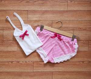 Pijama Rayas Rosadas 2