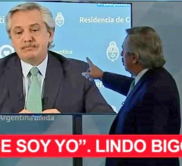 Uno de los memes para Alberto Fernández.