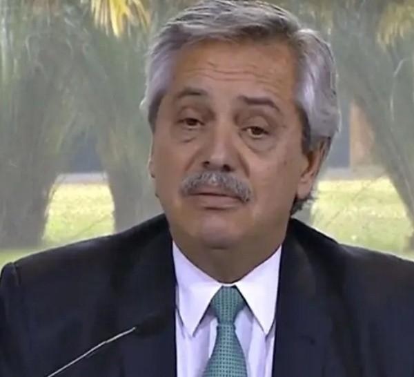 Alberto Fernández y el la extensión de la cuarentena.