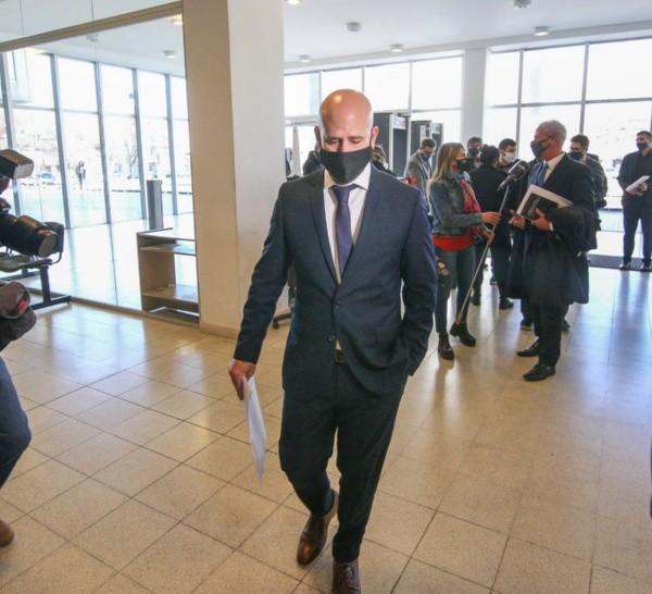Serjal, llegando al Centro de Justicia Penal para la audiencia.