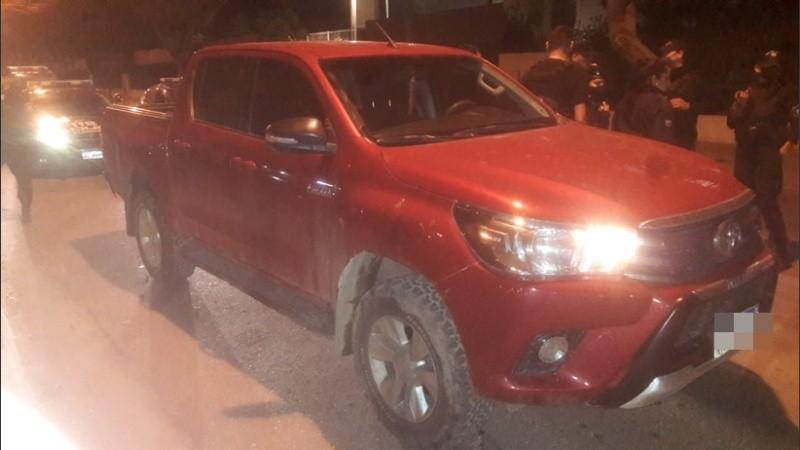El vehículo secuestrado en el procedimiento.