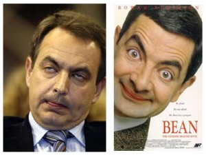 Zapatero e Mr Bean