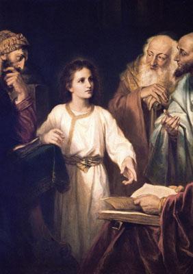 El niño perdido y hallado en el templo