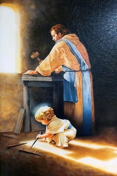 San José Obrero y el niño