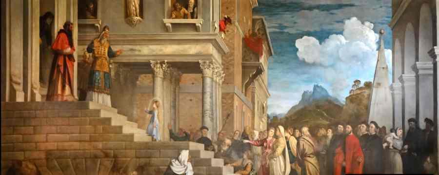 Presentación de la Virgen - Tiziano