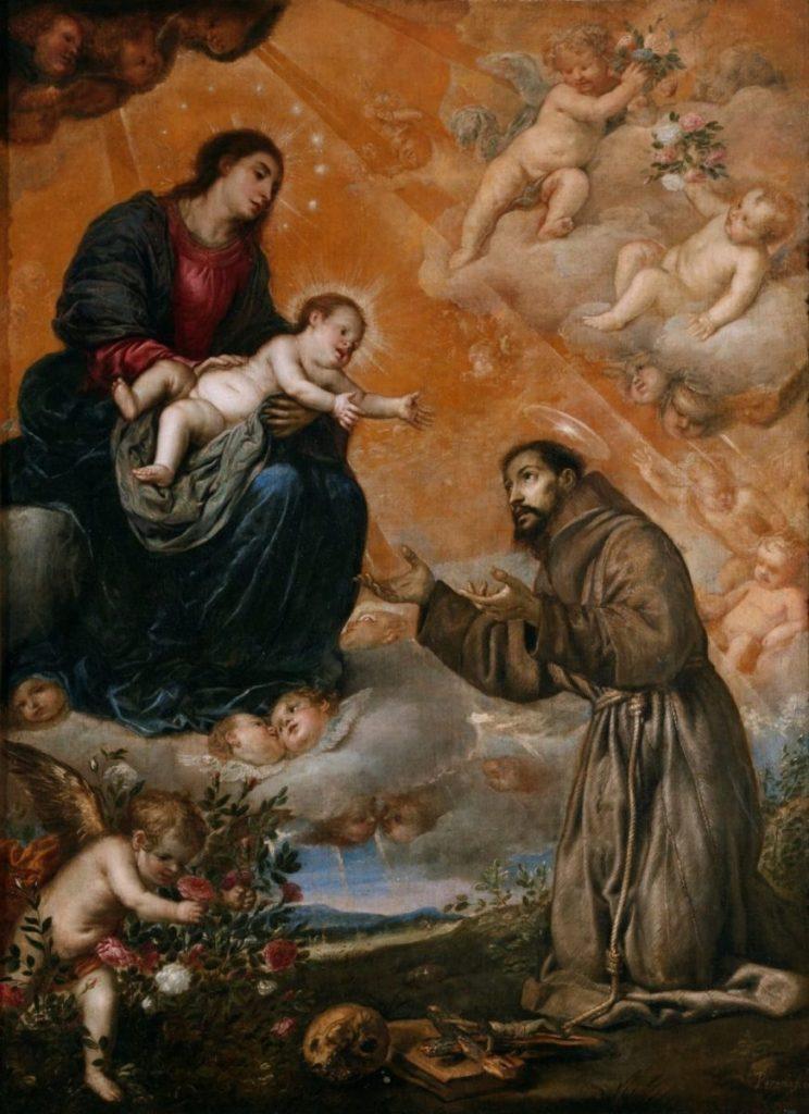 Aparición de la Virgen a San Francisco