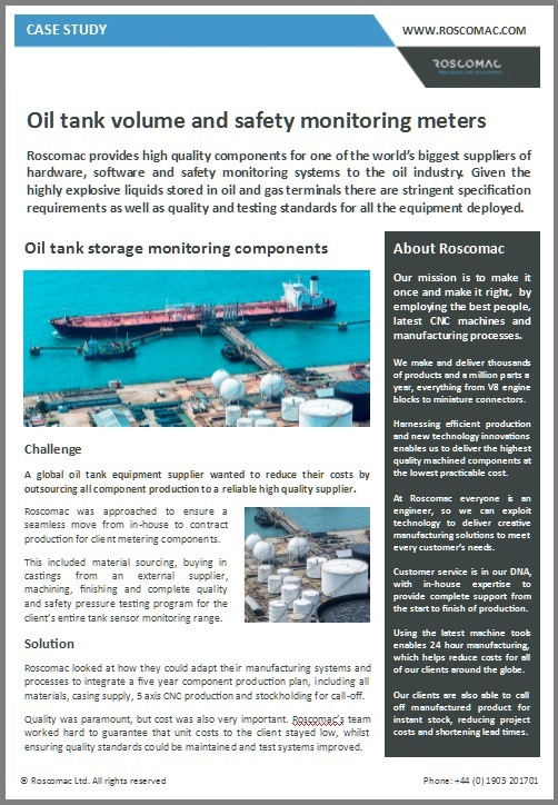 oil and gas industry case study
