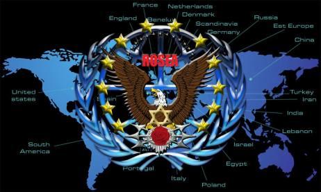 rossea logo on the world