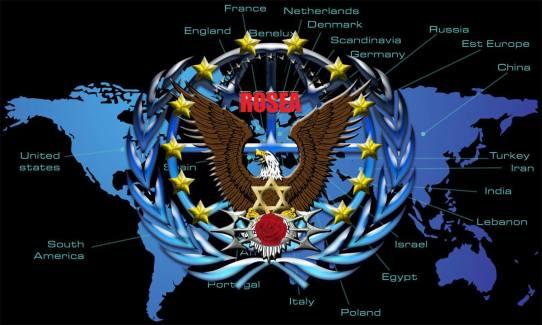 Rossea-Logo auf der Welt