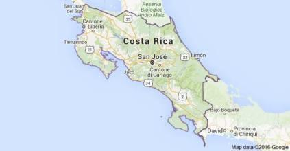 COSTA RICA CARTINA