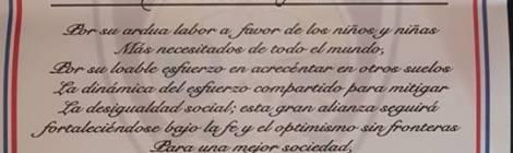 """ROSEA = UN RINGRAZIAMENTO A1° Coronel Andres Heredia Director Jeneral & 1° Coronel en mando Ector Bienvenido Vaez amobos officiale ISTITUTO DOMINICANO """"DE ENSENANZA POLICIA MUNICIPAL"""" REPUBBLICA DOMINICANA SANTO DOMINGOSONA ORIENTAL = ROSALBA SELLA"""