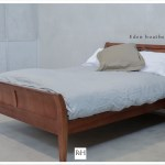 bed sleigh boatbed Rose and Heather kauri NZ