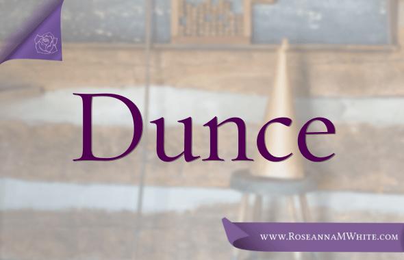 Word of the Week – Dunce